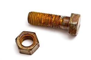 remove a stuck rusty fastener