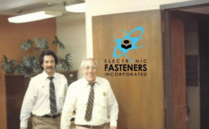 image of two men in electronic fasteners office